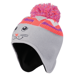 Grey Watch Out Rabbit Beanie Hat