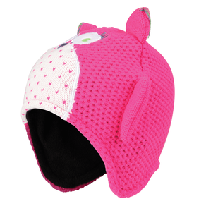 Pink Watch Out Owl Beanie Hat