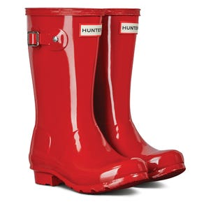 Hunter Big Kids Original Gloss Wellington Boots