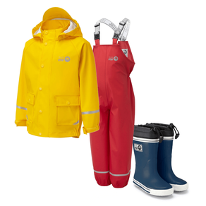Spotty Otter Waterproof Set & Wellies (RRP £82)